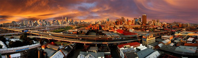 Johannesburg Skyline at Sunrise