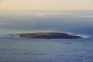 Robben Island View from Table Mountain