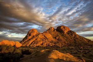 Sunset colors at Spitzkoppe
