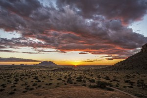 Pink clouds at Spitzkoppe