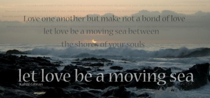 503 Let Love Be a Moving Sea 75x35cm