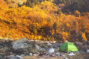 Camping in Kashmir, India