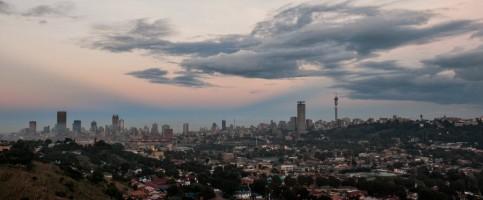 Johannesburg skyline by mitchell krog digital gallery johannesburg city skyline at dawn altavistaventures Images