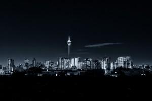 Johannesburg skyline by mitchell krog digital gallery johannesburg skyline at night telkom tower and hillbrow district altavistaventures Images
